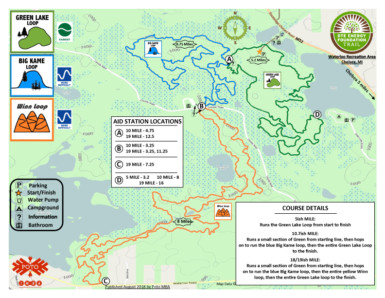 BONFYRE AID AND COURSE MAP